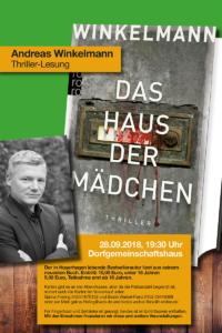 Thriller-Lesung mit Andreas Winkelmann, 28.09.2018
